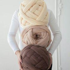 Giant Wool Yarn Knitting Wool Bulky Wool by NataHomeandFashion