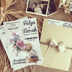 Davetiye / Wedding invitation www.masalsiatolye.com #masalsiatolye #davetiye #weddinginvitation #vintage