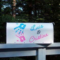 Just one of many designs I can put on a mailbox for you gift table! I love to work with brides - so please contact me if you have other ideas for your mailbox! This is a premium steel mailbox. Wedding Mailbox, Vintage Mailbox, Card Box Wedding, Mailbox Ideas, Wedding Stationary, Diy Wedding Video, Wedding Blog, Party, Cards