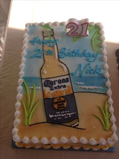 Nick's 21st birthday cake