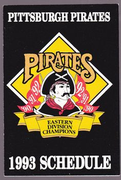 1993 PITTSBURGH PIRATES GIANT EAGLE BASEBALL POCKET SCHEDULE FREE SHIPPING #Schedule