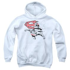 Superman - Double The Power Youth Pull-Over Hoodie