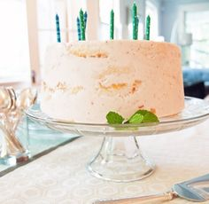 The Simplest 2-Ingredient Birthday Cake for Summer — frozen strawberry ice cream cake ~ Brewers strawberry and angel food cake ~ Kitchen Diary: Anne in South Carolina | The Kitchn