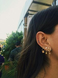 Gold Bar Stud earrings in Gold fill, short gold bar stud, gold fill bar post earrings, gold bar earring, minimalist jewelry - Fine Jewelry Ideas - Ear Piercing Daith Piercing, Spiderbite Piercings, Pretty Ear Piercings, Peircings, Rook Piercing Jewelry, Multiple Ear Piercings, Cartilage Hoop, Triple Lobe Piercing, Ear Piercings