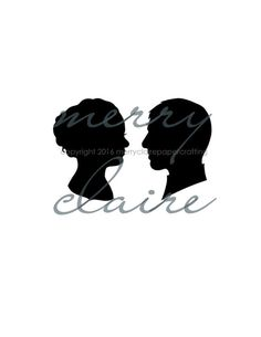 A beautiful addition to your wedding or bridal shower decor...custom, hand cut silhouettes of the bride and groom!