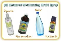 Ph balanced moisturizing braid spray