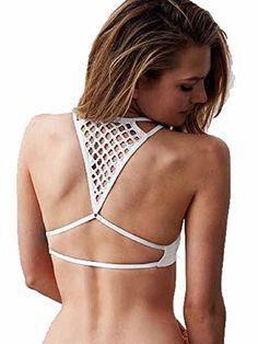 e76f026b339f2 Victorias Secret Seamless CrochetRacerback Bralette Small White     Amazon  most trusted e-retailer  VictoriasSecretBralette