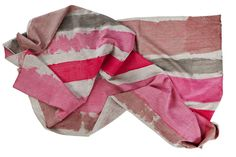 Tablecloth hand painted stripe table cloth pink on linen