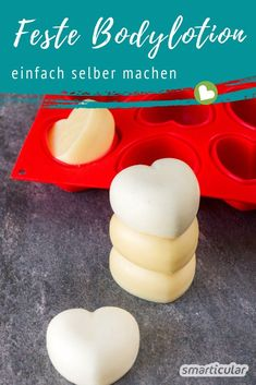 Firm body lotion itself make of 3 ingredients - without packaging .- Feste Bodylotion selber machen aus 3 Zutaten – ohne Verpackungsmüll Make your own body lotion – recipe with 3 natural ingredients -
