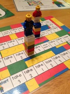 Game where students move around the board adding and subtracting blocks while trying to build the tallest tower. Simple to make! #mathlessonsonline #studymathonine