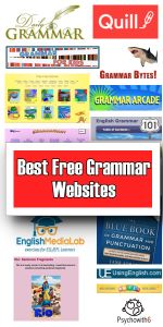 Best Free Grammar Websites for homeschool and to help your child improve grammar skills.