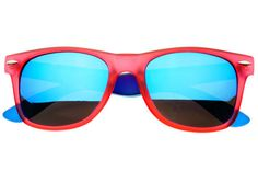 REVO MIRROR LENS WAYFARER SUNGLASSES RED BLUE W841