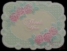 Rosy Thank You   Stacey Richardson / SweetStamps.com LLC