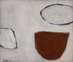 William Scott, Brown and White Still Life, 1962, Oil on canvas, 30.5 × 35.5 cm / 12 × 14 in, Private collection