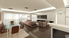 Visualisation for a modernistic interior