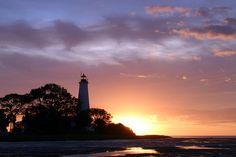 sunrise St Marks Lighthouse