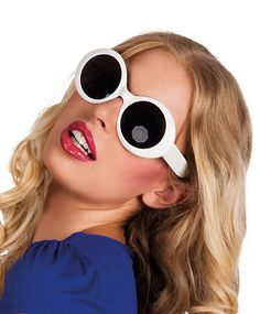Ladies Go Go Girl White Jackie Glasses Sunglasses, Magic Box, Outfits, Articles, Poses, Deco, Amazon, Style, Products