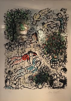 MARC CHAGALL - L'Arbre Vert - 1984 - Lithograph - 32 x 26 in. - Edition of 50 - Pencil signed and numbered - Contact us at info@gsfineart.com or call us at 305-456-5478