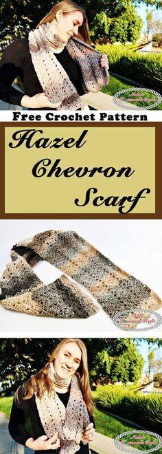 Hazel Chevron Scarf which is a Free Crochet Pattern and uses the Peephole Chevron Stitch by Nicki's Homemade Crafts #chevron #hazel #barcelona #yarn #stitch #peephole #tutorial #video #free #crochet #pattern
