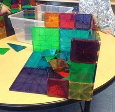"""This is the building that we made out of Magnatiles."" -MSS"