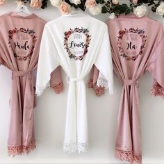 Excited to share this item from my shop: PEARL LACEY silk and lace bridal robes in standard and plus sizes and child sizes, bridal wedding robe with lace arms and bottoms Source by Bridesmaid Gifts From Bride, Bridesmaid Robes, Bridesmaid Proposal, Ask Bridesmaids To Be In Wedding, Rose Gold Bridesmaid, Bridesmaid Earrings, Bridal Party Robes, Bridal Lace, Bridal Lingerie