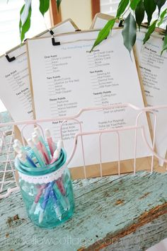 Budget Bridal Shower Decor and Ideas - Fox Hollow Cottage