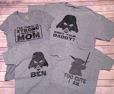 Star Wars Family Shirts, Darth Shirt, Princess Leia Shirt, Star Wars Onesie | Star Wars Baby Shirt | Star Wars Kid Shirt | Starwars Shirt by BlissGiftShop on Etsy https://www.etsy.com/listing/267634792/star-wars-family-shirts-darth-shirt