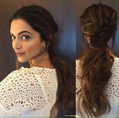15 Trendy Hairstyles Inspired By Deepika Padukone - New Hair Styles 2018 Deepika Hairstyles, Casual Hairstyles, Latest Hairstyles, Easy Hairstyles, Hairdos, New Latest Hairstyle, Hairstyles 2018, Engagement Hairstyles, Indian Wedding Hairstyles