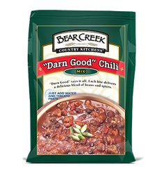"""""""Darn Good"""" Chili. """"Darn Good"""" about says it all. Each hearty mouthful of Bear Creek® chili delivers a delicious blend of spices and three kinds of beans. Great for chili dogs, too. #chili #soup"""