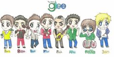 Finished my paper early, decided to squueze a drawing in! The Glee boys as chibis! Not all the little guys could fit on paper, so I had to put Artie and. The Boys of Glee Cartoon Drawings, Art Drawings, Glee Club, Anime Version, Chris Colfer, Character Drawing, Favorite Tv Shows, Nerdy, Musicals
