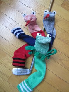 Frog or Snake Handcrafted Golf Head Covers,  for Utility or Putter (Seconds as a Puppet) CaddyshackCreative on Etsy