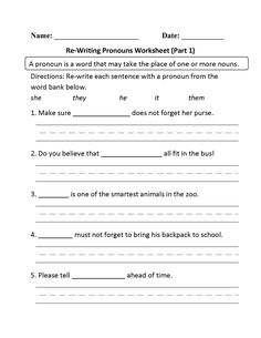 Solve Proportions Worksheet Pdf Personal Pronouns In Context Worksheet  Englishlinxcom Board  Marriage Help Worksheets Excel with Advanced Punctuation Worksheets Excel Rewriting Pronouns Worksheet Part   Pronoun Worksheetsenglish Grammar Literary Genre Worksheets
