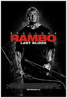 John Rambo (Sylvester Stallone) gears up for one last battle in the new poster for the upcoming fifth and final Rambo film, Rambo: Last Blood. Film Rambo, Rambo 3, John Rambo, Brigitte Nielsen Sylvester Stallone, Sylvester Stallone Family, Hd Movies, Movies To Watch, Movies Online, Movie Tv