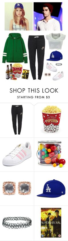 """[OP] Watching Supernatural"" by youchangewatersea ❤ liked on Polyvore featuring NIKE, West Bend, adidas, INC International Concepts, Larkspur & Hawk, '47 Brand, Topshop and GET LOST"