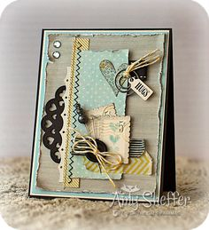 by Amy Sheffer- Pickled Paper Designs: Hugs 5 Cents - Pretty Cards, Cute Cards, Diy Cards, Tarjetas Stampin Up, Shabby Chic Cards, Card Making Inspiration, Card Tags, Valentine Day Cards, Paper Cards
