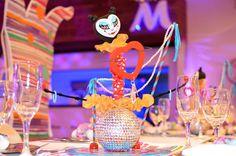 Centro de mesa fiesta temática circo