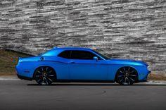 Blue Challenger - Custom Wheels, Dodge, Mopar, Black Tint