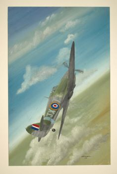 Aviation Art original painting Wall art Hawker by NorthumbriaArt, £150.00