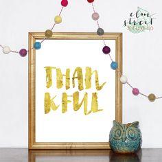 Thankful Foil Print