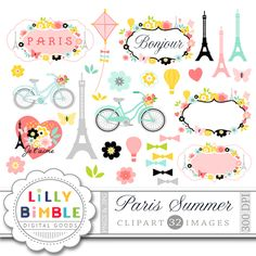 Paris Summer Clipart