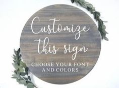 Make your own wood sign quote | Choose your quote | Round Wood Sign Diy Wood Signs, Custom Wood Signs, Painted Letters, Painted Signs, Wood Stain Colors, Inspirational Signs, Cricut Tutorials, Easy Wall, Design Your Own