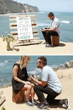 He gave her a new pair of shoes, but as he put them on her feet, there was a rock in one of them - It was her engagement ring!