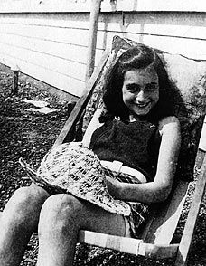 She's in this section because its Herstory. Anne Frank took me beyond life in an attic to a heart within the hidden walls. I felt a very personal loss, like a part of me had gone with her. She made me feel as if I was Kitty. Thank you for writing to me, dearest Anne.                         Your Long Lost Friend,                                             Kitty