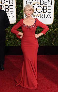 1/11/2015 - Golden Globes 2015 Red Carpet Arrivals   Helen Mirren ('The Hundred-Foot Journey')