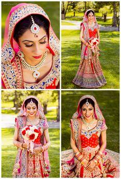 indian bridal portrait bride red rose bouquet white asian makeup outoor natural liesl diesel photo wedding sari mua gold