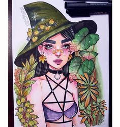 amandajtoner Character Drawing, Character Design, Desenhos Halloween, Witch Drawing, Copic Art, Witch Art, Illustrations And Posters, Art Sketchbook, Cartoon Art