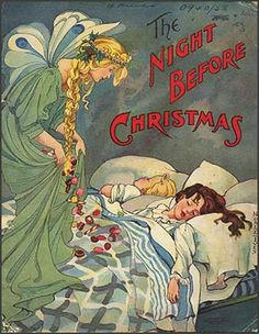 Sarah Noble-Ives', 1907 cover illustration for the much loved 'Twas the Night Before Christmas, or 'A Visit from St. Nicholas' (1823).