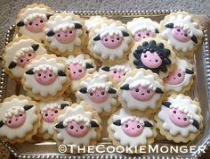 ©TheCookieMonger Little Lamb Cookies