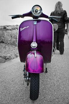 Purple Beauty. Custom paint on a Vespa