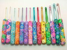 PolymerClayCreations on Etsy.  Beautifully made crochet hooks!